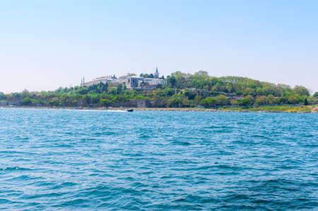Topkapi palace before marmara sea Istanbul, Turkey Stock Photo