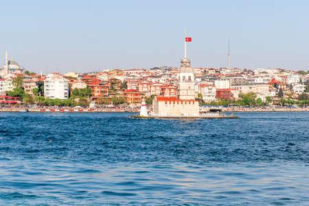 Maidens Tower Kiz Kulesi at Bosphorus, Istanbul. Stock Photo