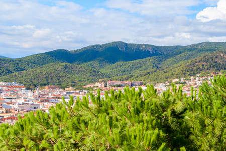 Tossa de mar, Spain: Old Town with blue sky.