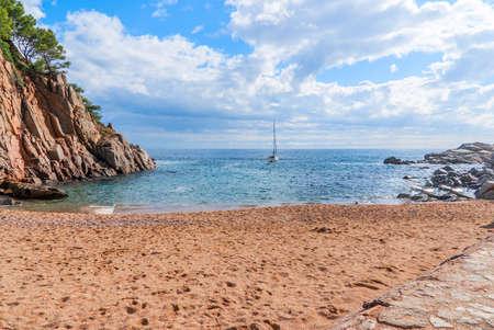 Sea view, Tossa de Mar, Costa Brava, Spain Stockfoto