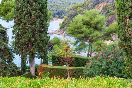 Sea view from Santa Clotilde gardens, Catalonia