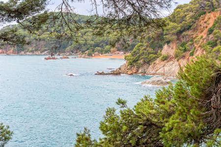 Sea view from Santa Clotilde gardens, Catalonia. Spain Stockfoto