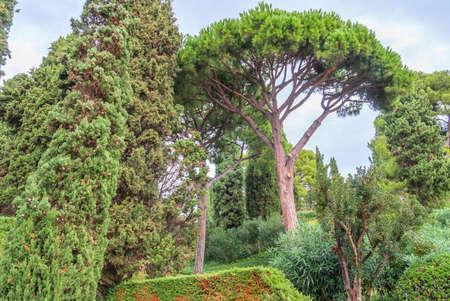 Gardens of Saint Clotilde in Lloret de Mar, Costa Brava Stockfoto