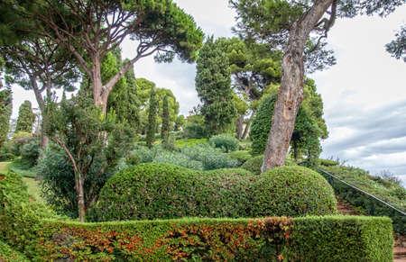 Gardens of Saint Clotilde in Lloret de Mar, Costa Brava, Catalonia, Spain