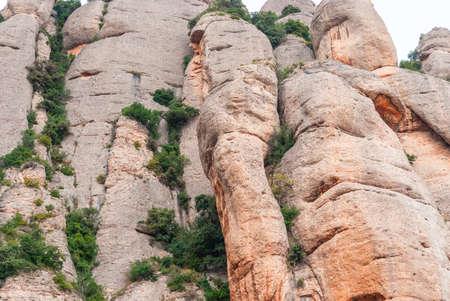 Montserrat is a mountain near Barcelona, SPAIN