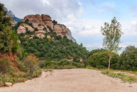 Views from Montserrat mountain, close to Barcelona, Catalonia, Spain Stockfoto