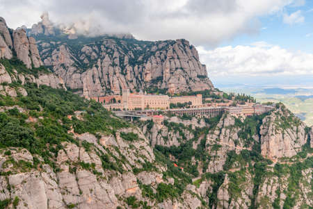 Abbaye de Santa Maria de Montserrat à Monistrol de Montserrat, Catalogne, Espagne.