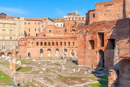 Roman forum. Imperial forum of Emperor Augustus. Rome, Italy