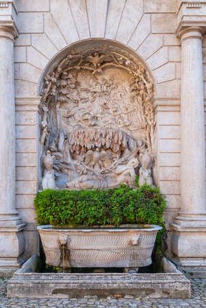 Fountain Sleeping Venus in the yard of villa DEste in Tivoli, Italy