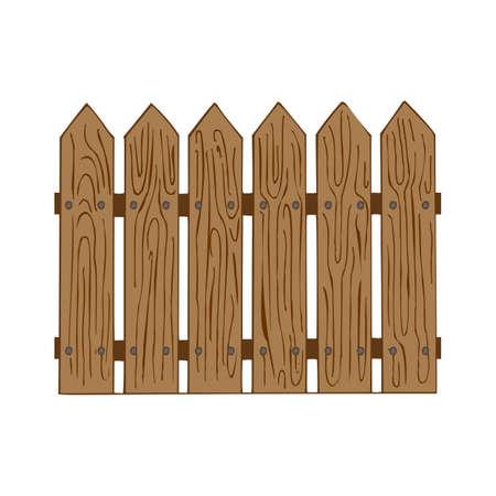 Wooden fence vector illustration  イラスト・ベクター素材