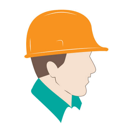 Builder color icon. Construction worker. Isolated vector illustration 矢量图像