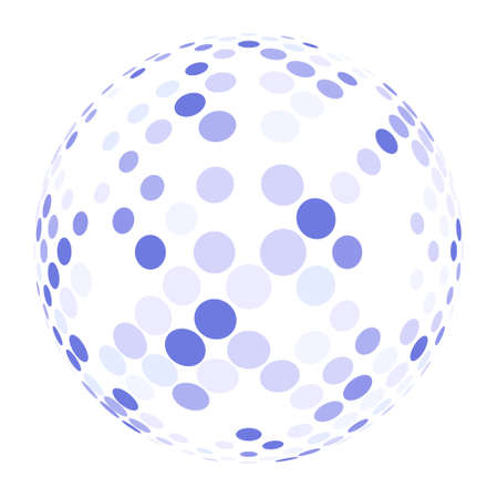 Abstract globe symbol, isolated vector icon, internet and social network concept. solated on white background