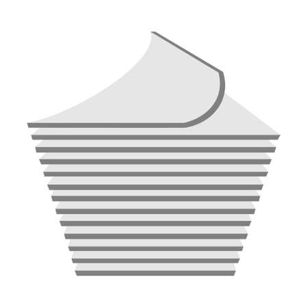 Stack of paper line icon. linear style sign for mobile concept and web design. Pile of document files outline vector icon. 矢量图像