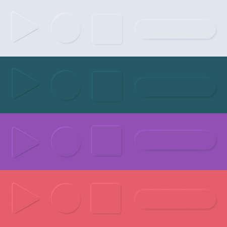 User interface elements for mobile app. UI buttons, icons set. Vector. Simple modern design. For mobile, web, social media, business. Neumorphism. Flat style eps10 illustration. 矢量图像