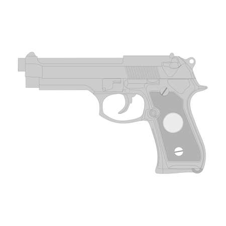 Gun vector illustration isolation on a white background. 向量圖像