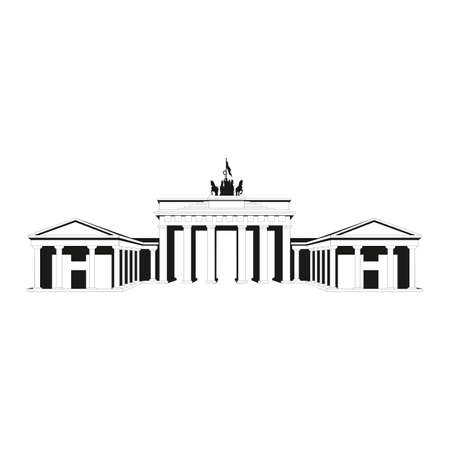 Brandenburg gate icon. Outline Brandenburg gate vector icon for web design isolated on white background