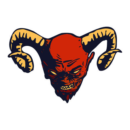 Red Devil head vector design  illustration