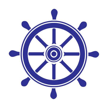 Helm wheel on white background.