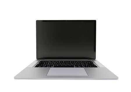 Laptop realistic computer. Modern thin edge slim design.. Laptop isolated on a white background.