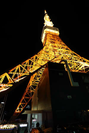 observations: tokyo tower in the night