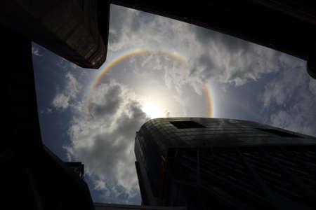 phenomenon: an optical phenomenon sun halo