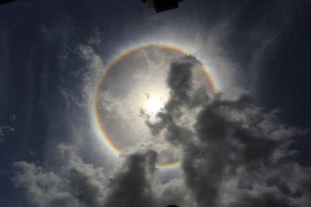gloriole: an optical phenomenon sun halo
