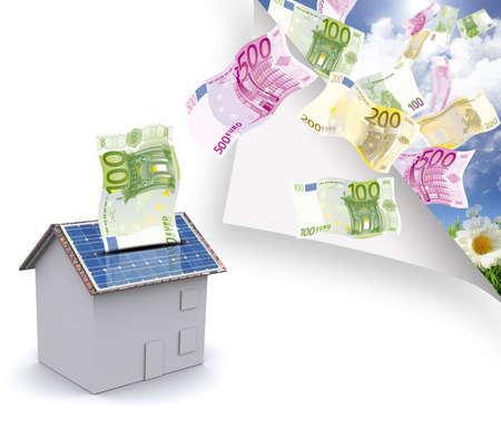 produce energy: Maison photovoltaique