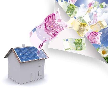 radiacion solar: Casa photovoltaique