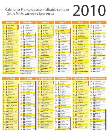 calendar 2010 vector Stock Vector - 6021129