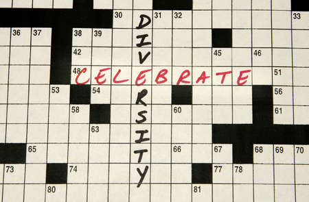 multiplicity: Crossword puzzle page with the words Stock Photo