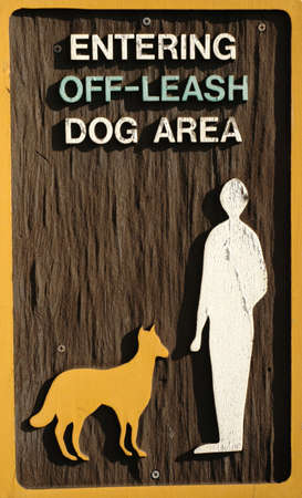 unrestricted: An off-leash dog area sign