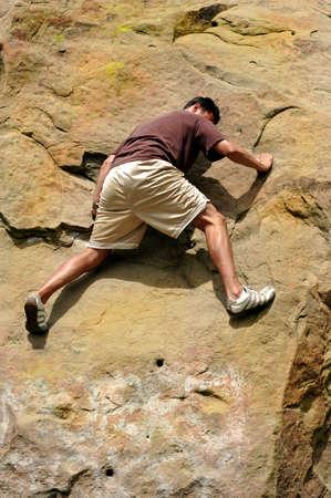 impasse: Man climbing at an impasse