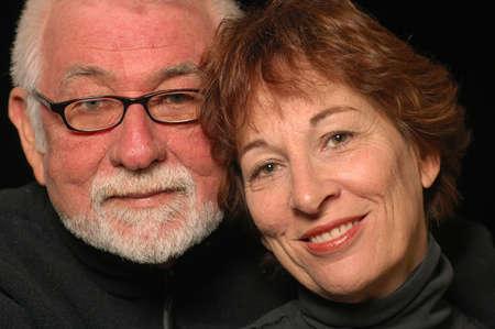 Mature loving happy couple
