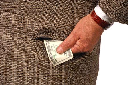 payola: Man discretely offer a bribe