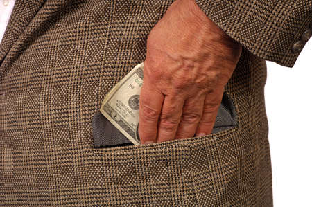 payola: Man slips twenty into pocket