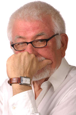 Intense portrait of older man