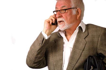 conversa: El hombre de negocios habla en el tel�fono