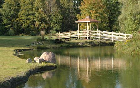 bridge over water: Beautiful bridge over water