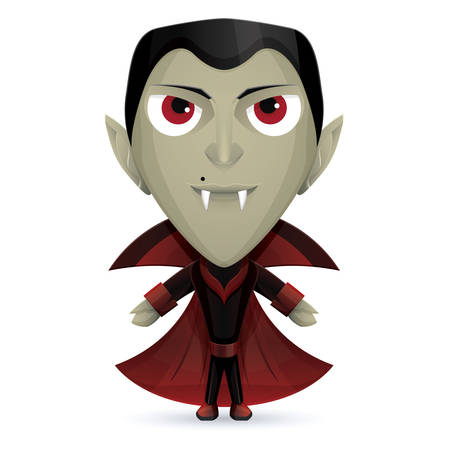 vlad: Smiling Dracula character with a mole near his nose Illustration