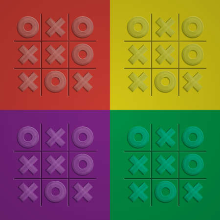 zeros: Field of different colors with filled glass crosses zeros without a winner