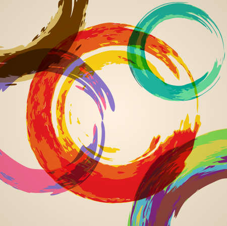 abstract background with colored circles imitating watercolor