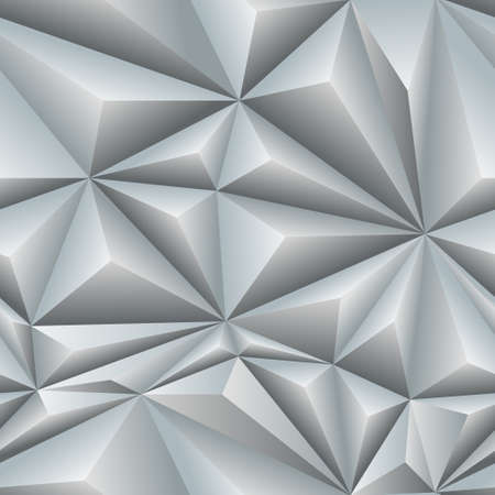 white abstract seamless pattern of triangles with bulging edges