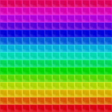 tetraedro: Colorato modello tetraedrico Mosaic Vettoriali