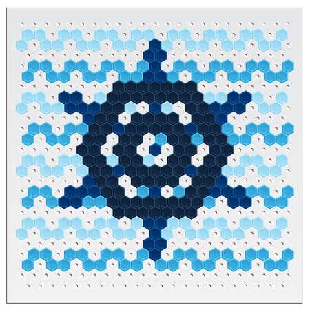 Mosaic Wheel Vector