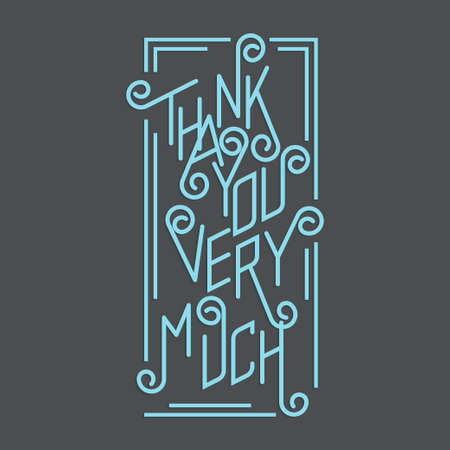 Thank You Very Much Illustration