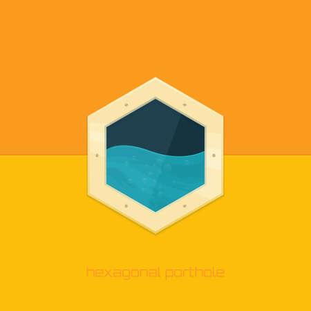 Hexagonal Porthole Vector