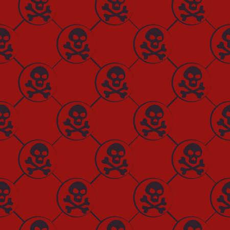 Red Skull Pattern Vector