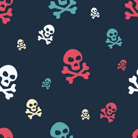Skull Pattern Colored Vector