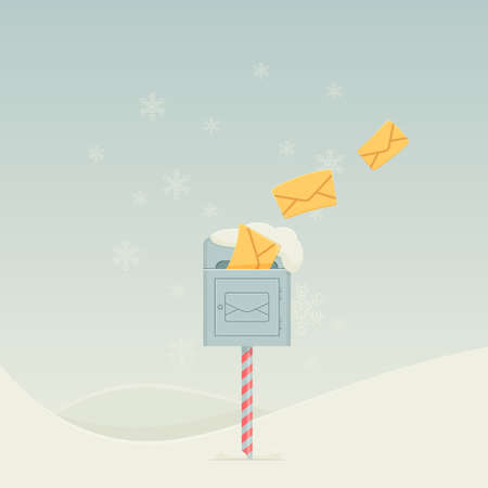 christmastide: Snowy Letterbox Illustration