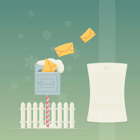 christmastide: Letterbox and Fence Illustration